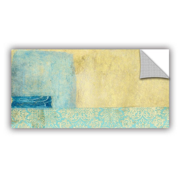 ArtWall Elena Ray  ' Gold And Blue Banner ' Art Appeals Removable Wall Art 15548468