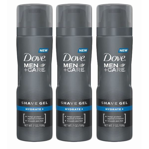 Dove Men + Care Hydrate 7-ounce Shave Gel (Pack of 3)