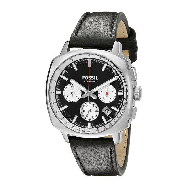 Fossil Men's CH2984 Haywood Chronograph Leather Watch - Black