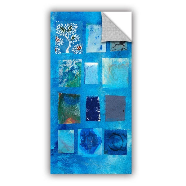 ArtWall Elena Ray  ' Blue Tree Collage ' Art Appeals Removable Wall Art 15548613