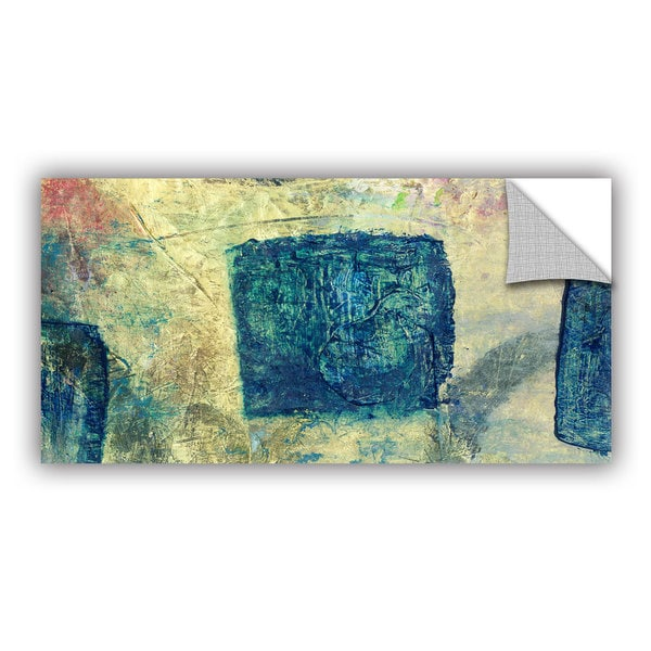 ArtWall Elena Ray  ' Blue Golds ' Art Appeals Removable Wall Art 15548619