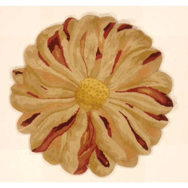 Zinia Flower Hand Tufted Shaped Area Rug India