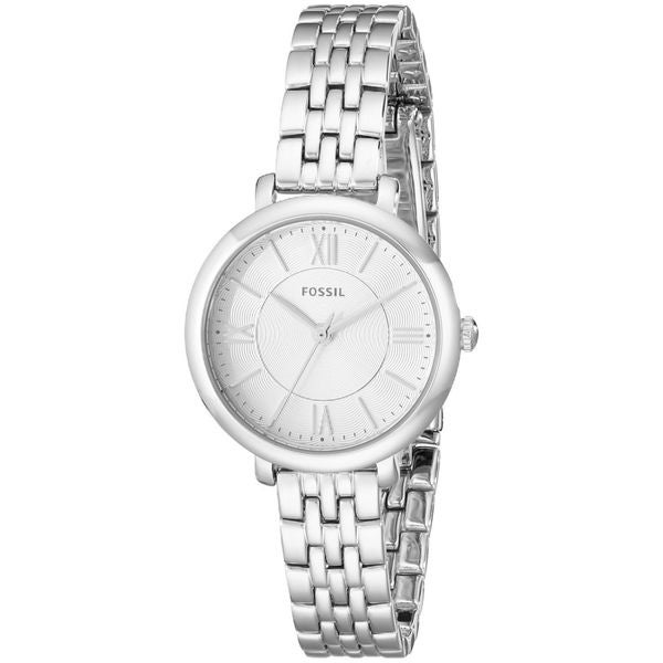 Fossil Woman's ES3797 Jacqueline Small Three-Hand Stainless Steel Silver Watch