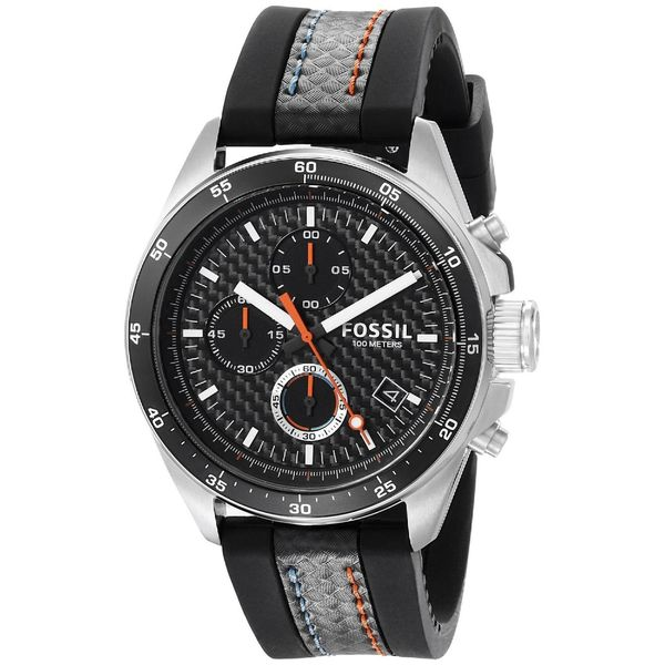 Fossil Men's CH2956 Decker Chronograph Silicone Black Watch
