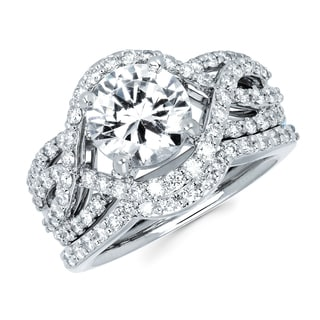 Boston Bay Diamonds 14k White Gold 3ct TDW Diamond Bridal Set (G-H, SI1-SI2)
