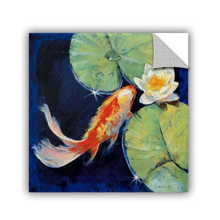 ArtWall Michael Creese ' Koi And White Lily ' Art Appealz Removable Wall Art