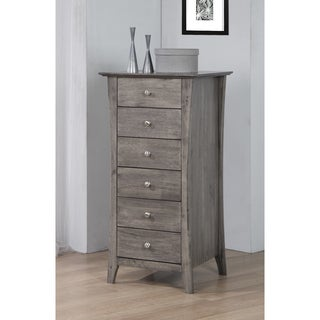 Vermont Stone Dark Burnt Grey 6-drawer Lingerie Chest