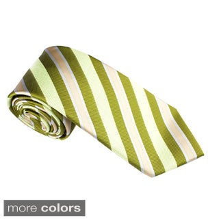 Elie Balleh Milano Italy EBNT2163 Microfiber Striped Neck Tie