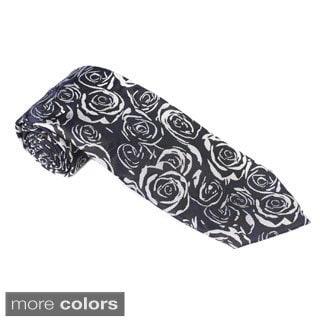 Elie Balleh Milano Italy EBNT3994 Microfiber Floral Neck Tie
