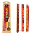 Set of Three Boxed Taper Hand Painted Candles - Indaeuko Design (South Africa)
