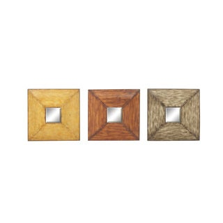 UMA Brown Metal Mirror Wall 3 Assorted