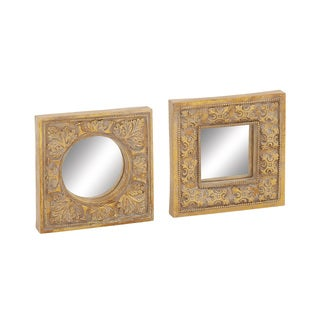 Gold Mirror Wall Decor (Set of 2)