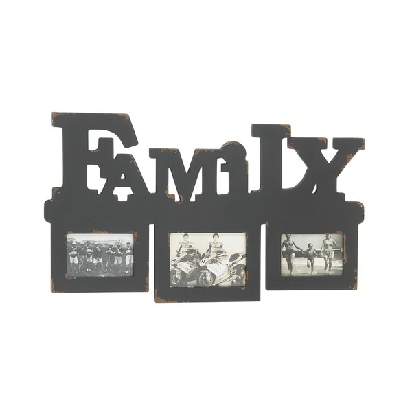 Grey Wood Wall Photo Frame