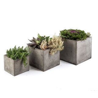 Eco-Concrete Cube Planters, Handmade in Indonesia