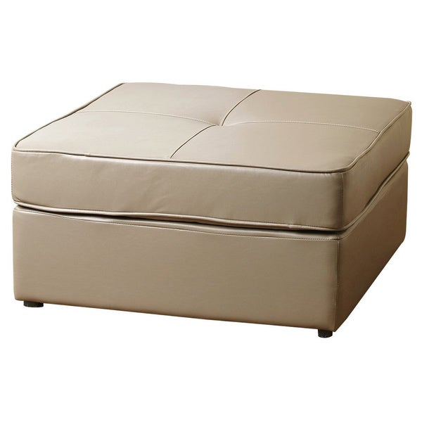 ABBYSON LIVING Capri Square Bonded Leather Ottoman