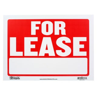Bazic Small 9 x 12-inch 'For Lease' Sign