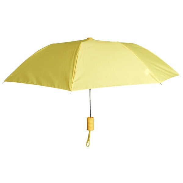 Compact Lightweight Automatic Solid Sports Travel Yellow Rain Umbrella