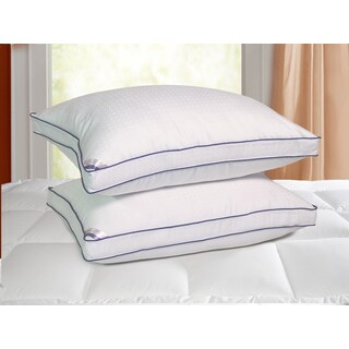 kathy ireland HOME 1000 Thread Count Swiss Dot Down Alternative Pillow (Set of 2)