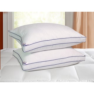 Kathy Ireland 1000 Thread Count Swiss Dot Down Alternative Pillow (Set of 2)