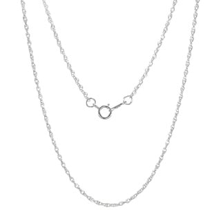 Jewelry by Dawn Sterling Silver 18-inch French Rope Chain Necklace (1.3mm)