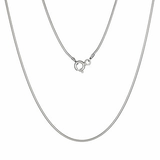 Jewelry by Dawn Sterling Silver 18-inch Snake Chain Necklace (1 mm)