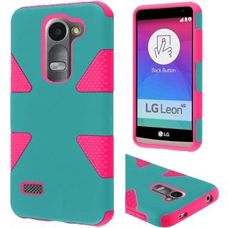 Insten Dynamic Hard PC/ Soft Silicone Dual Layer Hybrid Rubberized Matte Phone Case Cover For LG Leon