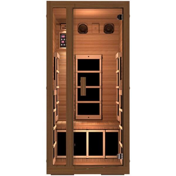 JNH Lifestyles Freedom 1 Person Zero-EMF Far Infrared Canadian Western Red Cedar Wood Sauna / Model MG101RB