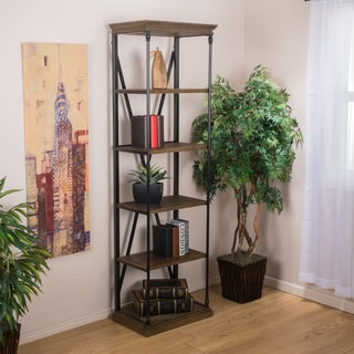 Appleton Industrial 5 Shelf Bookcase by Christopher Knight Home