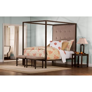Hillsdale Furniture's King's Way Canopy and 2-bench Bed Set