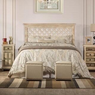 Hillsdale furniture's Kuri Headboard in Distressed White Finish