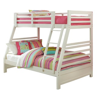 Hillsdale Furniture's White Bailey Twin/ Full Bunk Bed