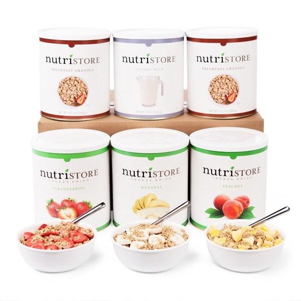 Nutristore Fruit and Granola Breakfast Kit Food Storage