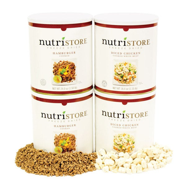 Nutristore Freeze Dried Meat Food Storage Combo Kit