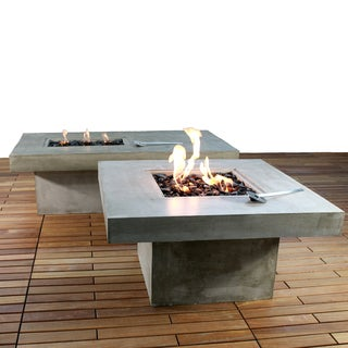 Zement Bauhaus Modern Concrete Patio Coffee Table and Fire Pit
