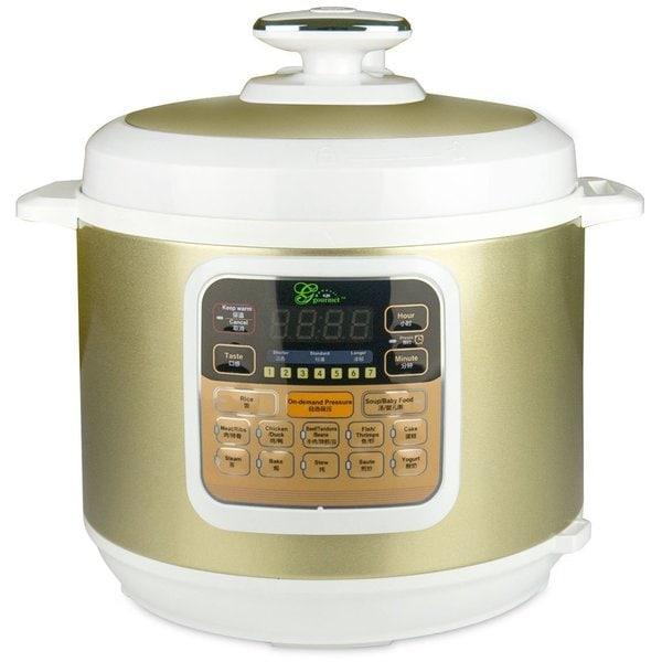 Gourmet Bt100-6l Programmable 7-in-1 Pressure Cooker, 6-Liter, 1000-Watt Stainless Steel (2015 Model)