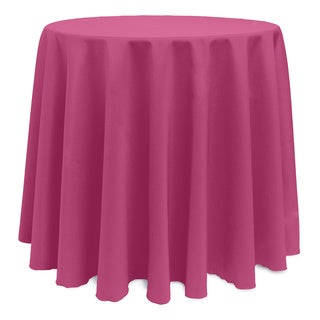 Solid Color 120-inches Round Vibrant Tablecloth