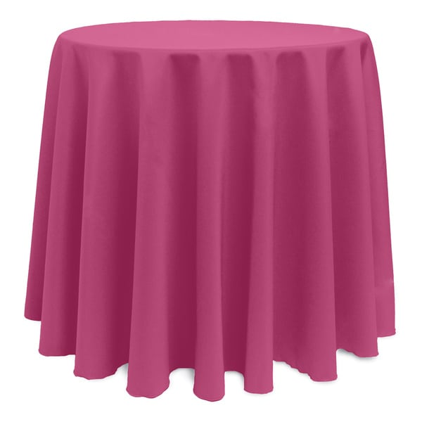 Solid color 120 inches round vibrant tablecloth 17343832 for 120 inch round table cloths