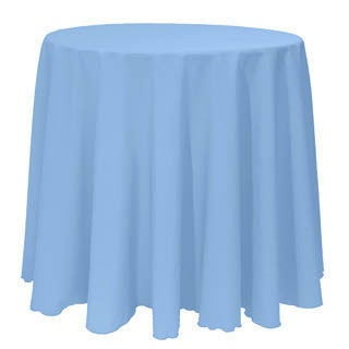 Solid Color 120-inches Round Colorful Tablecloth