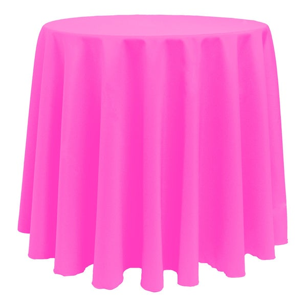 Solid Color 90-inches Round Colorful Tablecloth