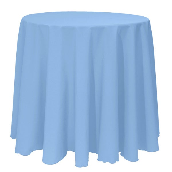 Solid Color 108 Inches Round Colorful Tablecloth