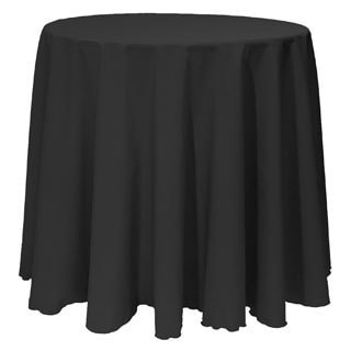 Solid Color 90-inches Round Bright Colorful Tablecloth