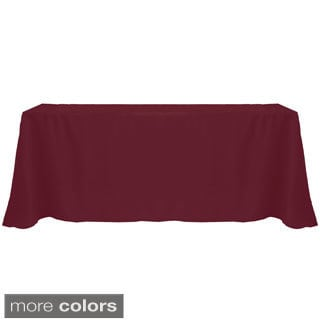 Solid Color 90 x 156-inches Vibrant Color Tablecloth