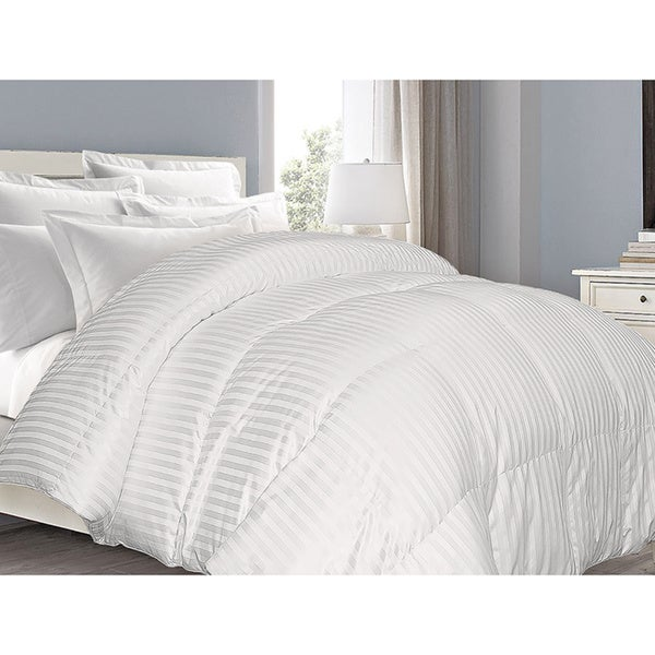 Supreme 350 Thread Count Cotton Damask White Down Comforter (As Is Item)