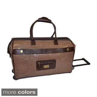Adrienne Vittadini Textured 22-inch Carry Rolling Duffel Bag
