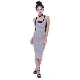 Juniors' Tunic Midi Dress With Crop Top Attached