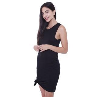 Junior's Sporty Black T-shirt Dress