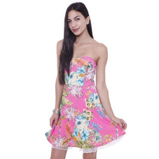 Juniors' Tropical Paradise Skater Tube Dress