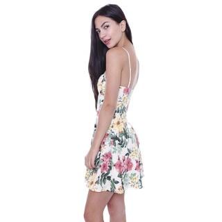 Junior's Tropical Floral Skater Dress