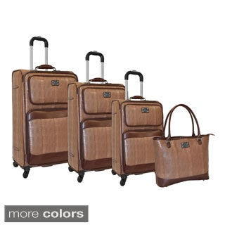 Adrienne Vittadin Athens 4-piece Expandable Spinner Luggage Set