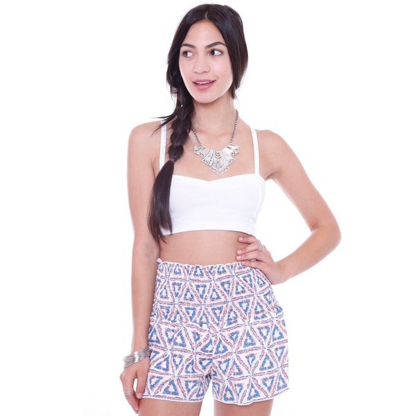 Juniors' Strappy Cut Out White Bralette Crop Top